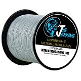 Jig Jerking SUPER POWER 4/8 Strands Braided Fishing Line 100% PE with ZERO Stretch & Abrasion Resistant (500M/547Yds 20Lb 30Lb 50Lb 80Lb 100Lb) – MUST HAVE ! Review