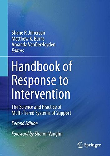 Handbook of Response to Intervention: The Science and Practice of Multi-Tiered Systems of Support