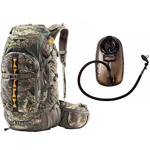 Tenzing TZ 3000 Big Game Hunting Day Pack (Realtree Max 1 Camo) with 2.0L Hydration Reservoir by Tenzing
