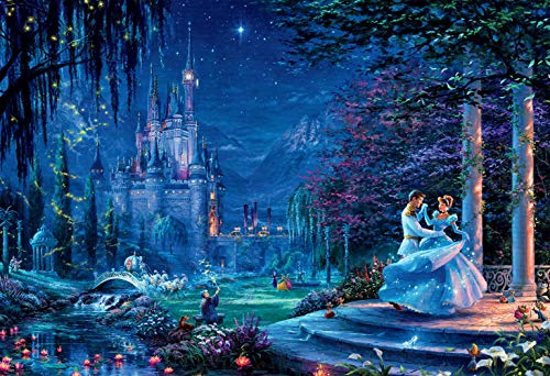 (Thomas Kinkade - Disney - Cinderella Dancing in The Starlight Puzzle - 2000)