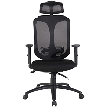 BERLMAN Modern Mid Back Office Chair Executive Chair with Adjustable Height Home Office Chair Desk Chair Task Chair Computer Chair Swivel Chair Grey