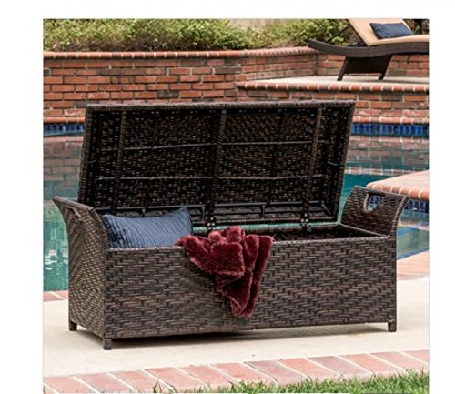 Miraculous Wicker Storage Benches Dailytribune Chair Design For Home Dailytribuneorg