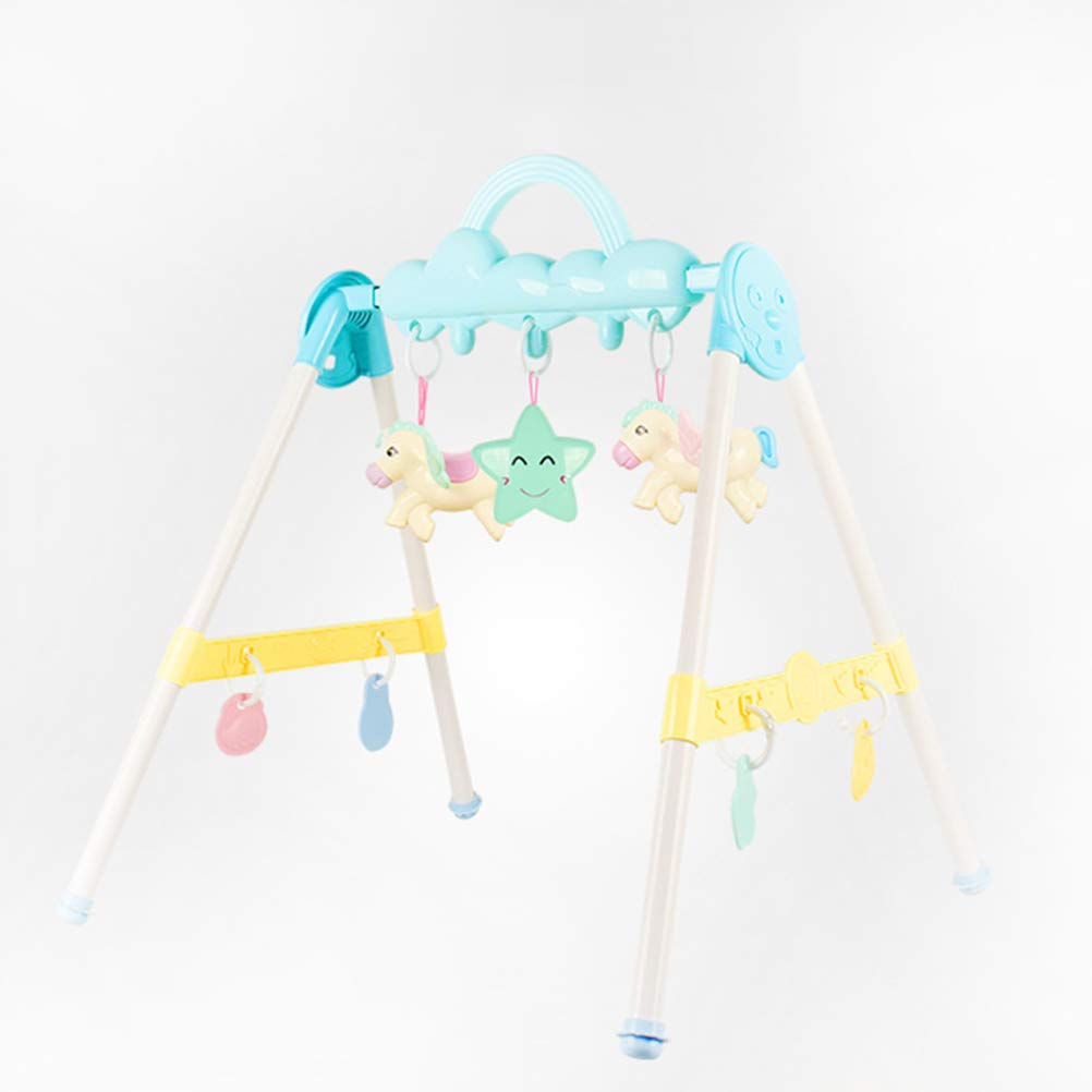 Toyvian Baby Play Gym with Gym Toys Rattle Teething Toys Gym Frame Activity Gym Hanging Bar Newborn Gift Baby Girl