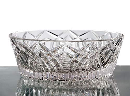 GAC Decorative Crystal Glass Serving Bowl, 6