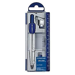 Staedtler - Set de dibujo: estuche, compás escolar, adaptador y tubo de minas (550 60)