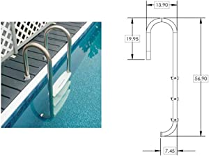Complete in-Pool Ladder 3 Step | Above Ground Kayak or Fanta-Sea Swimming Pool Ladder