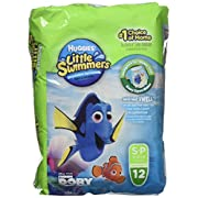 Huggies Little Swimmers Disposable Swim Diapers, Small, 12-Count (Pack of 2)