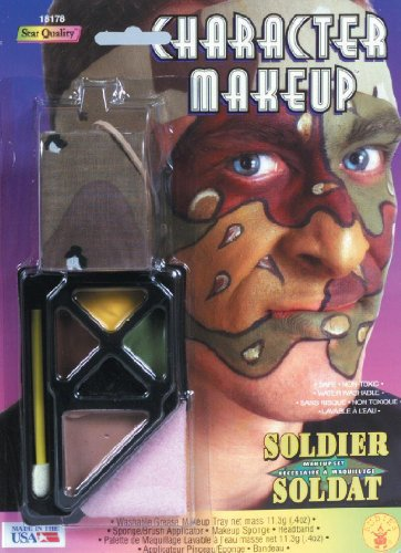 Army Halloween Costume Makeup (Soldier Costume Makeup and Headband)