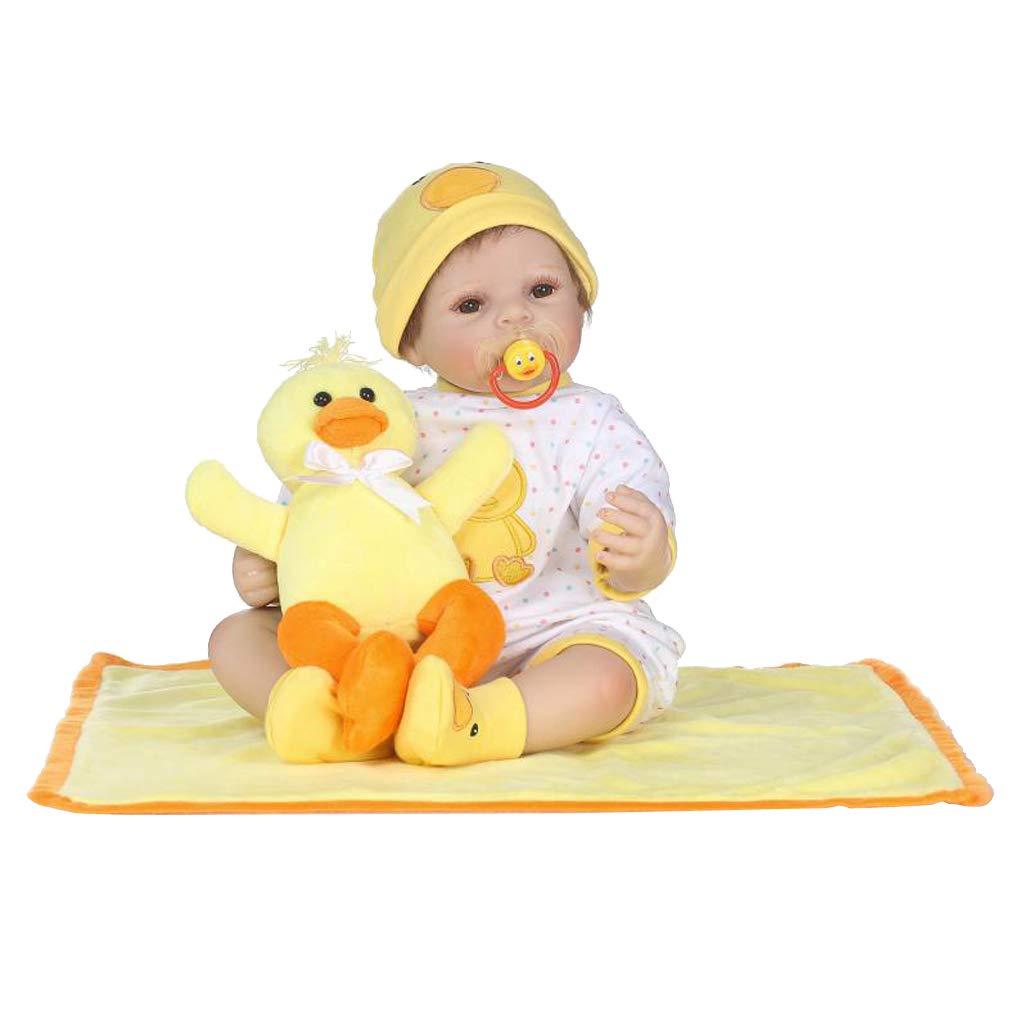 Fenteer Modello Bambola Reborn Femmina Sveglia di 50cm - Giallo