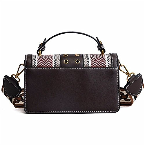 Hit Shoulder Simple Red Pu Retro Practical Color Messenger Bag Yiwuhu Square Magnetic Buckle Bag wUZCSq