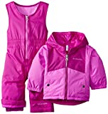 Columbia Baby Girls' Double Flake Reversible Set, Bright Plum/Foxglove, 12-18 Months