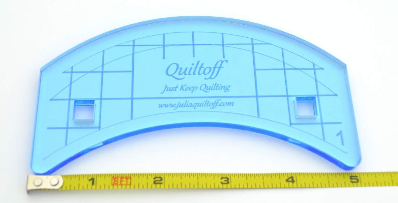 Longarm Quilting Ruler, Curve #1 (Blue)