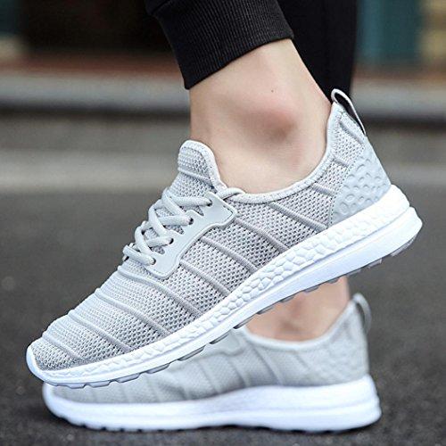 47 Sneakers Bianca Basse 43 Asia Uomo Scarpe Sportive UOMOGO Grigio 36 Nero da Running Donna Grigio v7wxF0
