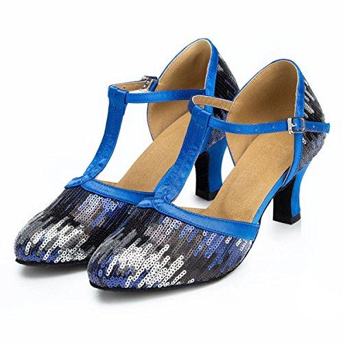 Miyoopark - salón mujer Blue-6cm Heel