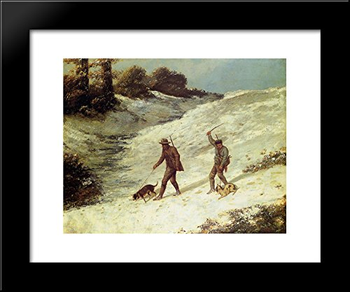(Poachers in the Snow 20x24 Framed Art Print by Gustave Courbet)