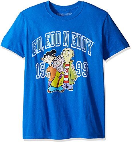 T-Line Men's Ed, EDD n Eddy Collegiate EDS Graphic T-Shirt, Royal Blue, X-Large