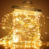 GZQ LED String Lights Multi Strand Decorative Fairy Lamp 6.6FT for Home Wedding Birthday Party Bedroom Garden Patio Christmas Tree (Warm White) (14 Strand 280 LED)