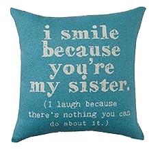 "Brentwood Originals 8022 ""Sisters"" Decorative Pillow, 18"""