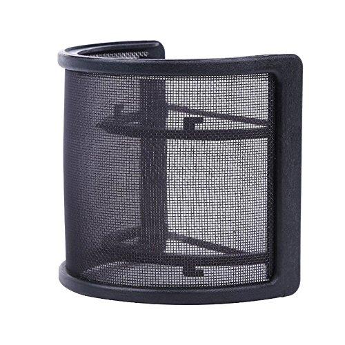Dual layer u shape recorder microphone mesh pop filter