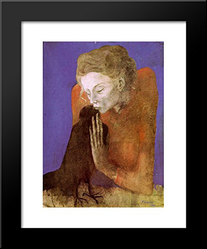 1a036896 Amazon.com: Woman with raven 20x24 Framed Art Print by Picasso ...
