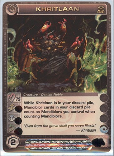 KHRITLAAN Chaotic Super Rare Foil Card MAX COURAGE STAT OF 75 Zenith of the Hive