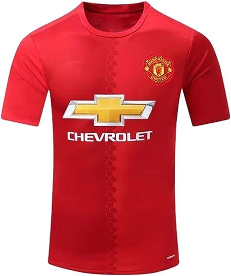 2016 2017 manchester united diy nome e numero casa calcio maglia in rosso per nuova stagione uomo rosso s amazon it sport e tempo libero amazon it