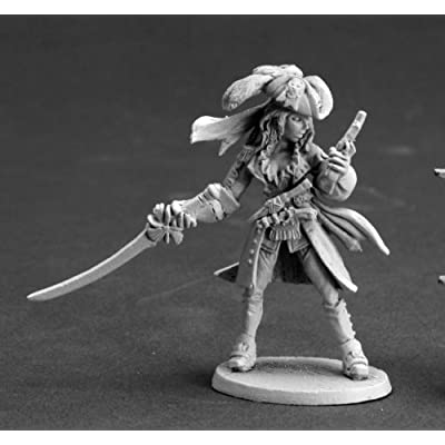 Reaper Angelica Fairweather, Pirate Captain 03613 by Miniatures: Toys & Games