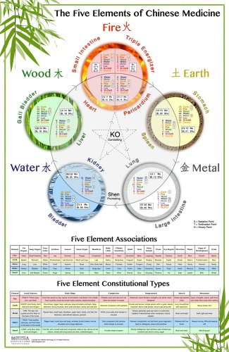 The World's Best Five Elements Wall Chart (The Five Elements of Chinese Medicine) (Posters Charts Acupuncture And)