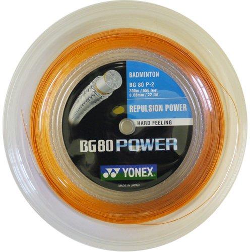 ヨネックスbg80 Power Badminton String – 200 mリール B0084DU6SG オレンジ