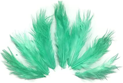 1 Dozen USA SELLER Red Grizzly Rooster Chickabou Fluff Feathers