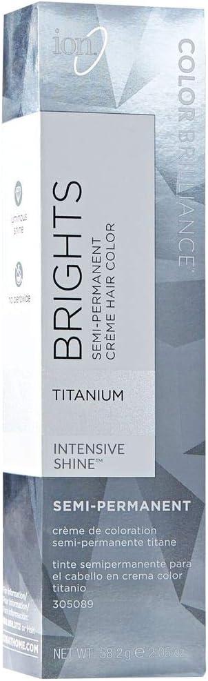 Ion Color Brilliance Brights Semi-Permanent Hair Color Titanium by Ion