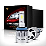 Auxbeam F-S2 Series H11 Headlight Conversion Kits with 2 Pcs of Headlight Bulbs 72W 8000LM Bridgelux COB Chips Fog Light