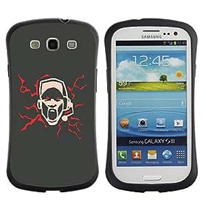 Suave TPU GEL Carcasa Funda Silicona Blando Estuche Caso de protección (para) Samsung Galaxy S3 I9300 / CECELL Phone case / / Abstract Art Sing Scream Microphone /