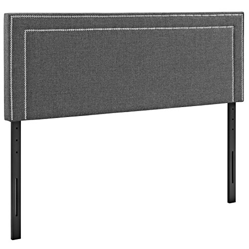 Jessamine Queen Fabric Headboard, Gray