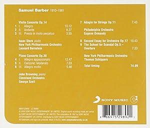 Barber: Violin Concerto, Op. 14 / Piano Concerto, Op. 38 / Adagio for Strings