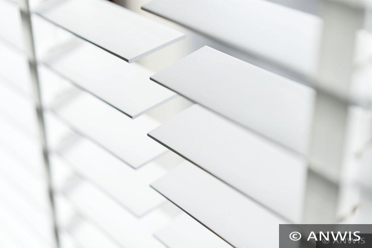 SUNWORLD Holzjalousie nach Maß, Jalousie, Jalousie, Jalousie, Rollo, Echtholz, Lammelle 50mm, Holzrollo, Maßarbeit (210cm (H) x 100cm (B), Weiß) B07BSCTGBR Rollos & Jalousien 4a27d9