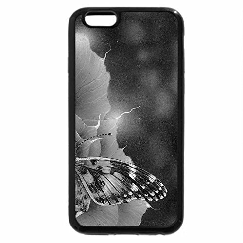 iPhone 6S Plus Case, iPhone 6 Plus Case (Black & White) - Painted Lady on Rose
