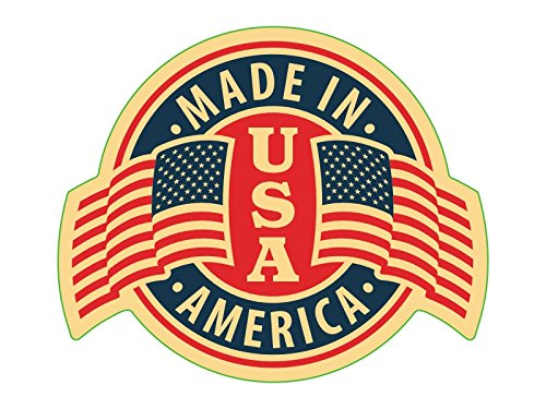 New Set of 4 Different Custom Shape Retro Vinyl Decals/Stickers; Made in America/USA Flag. 4