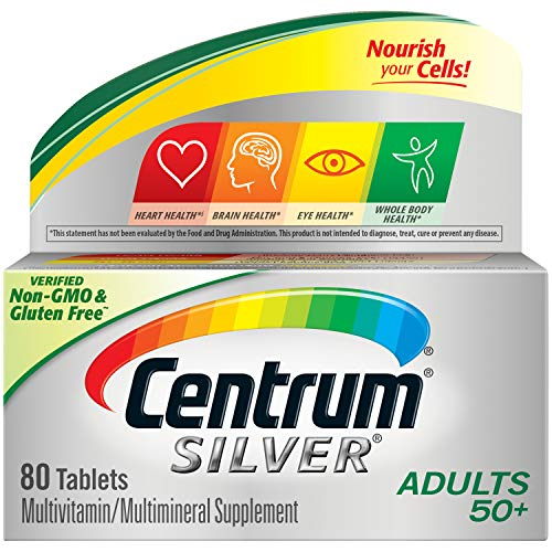 Centrum Silver Multivitamin for Adults 50 Plus, Multivitamin/Multimineral Supplement with Vitamin D3, B Vitamins…