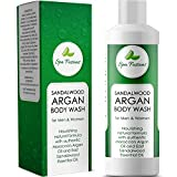 Best Natural Body Wash for Women & Men – Deep Moisturizing Body Wash Great for Dry & Sensitive Skin – Argan Oil Soap with Sandalwood Essential Oil – Relaxing Shower Gel – Cruelty Free