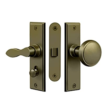 "Deltana SDML334U5 New York Screen Door Mortise Latch Set with 1 1/2""  Backset - Deltana SDML334U5 New York Screen Door Mortise Latch Set With 1 1/2"
