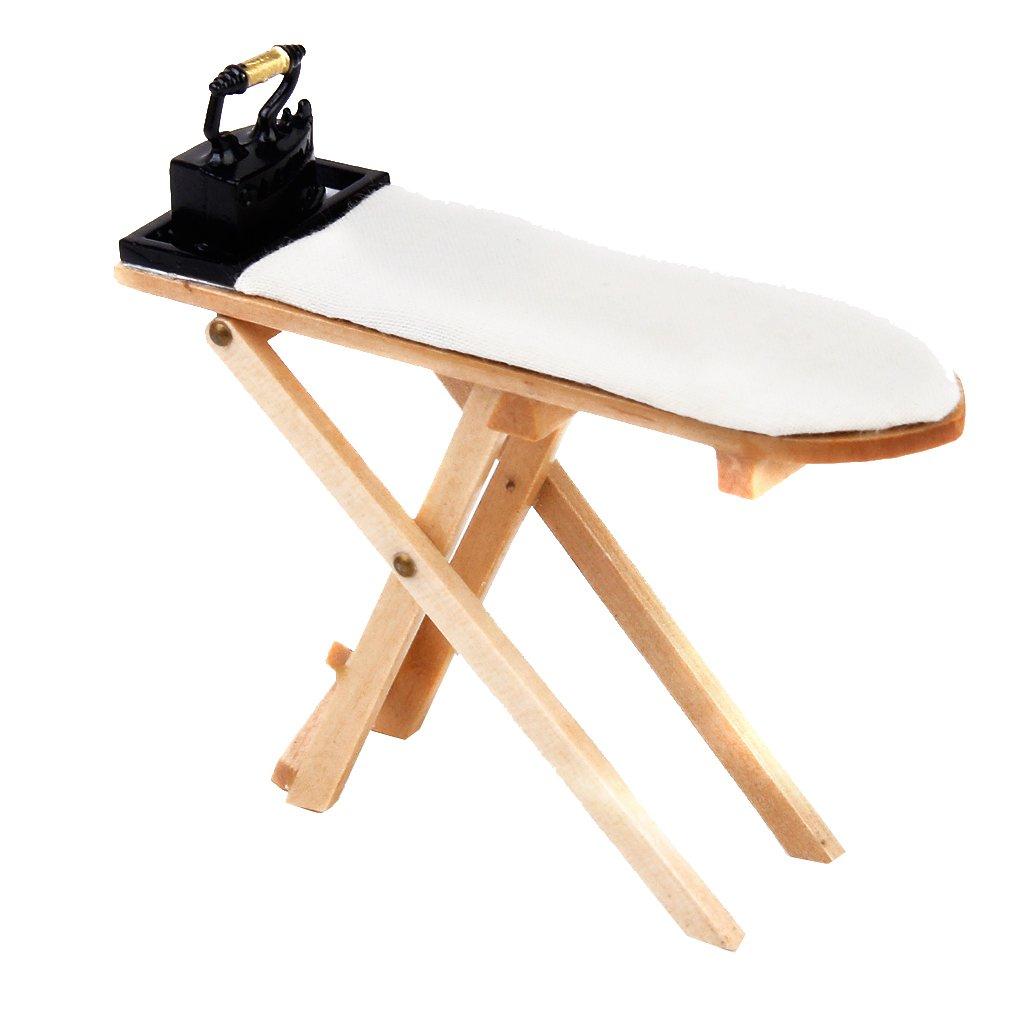 1/12 Doll House Miniatures Iron Ironing Board Set Generic JPA15010217