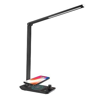 En Métal Ever Lampe Sans Bureau Led Lighting FilRéglable Fil 9w De 4 ModesChargeur Téléphone Rechargeable N0PX8nwOk