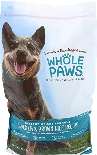 Whole Paws, Healthy Weight Dog Food Formula, Chicken & Brown Rice, 15 lb