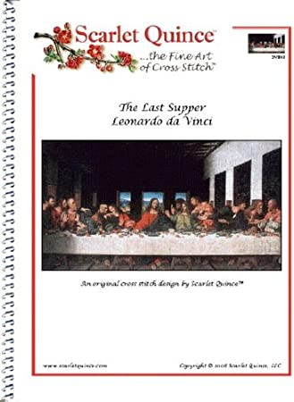 Scarlet Quince DVI002lg The Last Supper by Leonardo da Vinci Counted Cross Stitch Chart Large Size Symbols