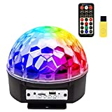 Disco Ball Party Lights, ihoven 8 Colors LED Bluetooth DJ Strobe Lights Sound Activated Stage Lighting Rotating Crystal Magic Ball Light with Remote Control Perfect for Home KTV Xmas Wedding Club Show