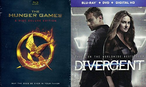 Divergent Steelbook Edition & The Hunger Games (3-Disc Deluxe Edition) Blu Ray Exclusive set