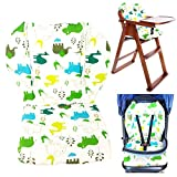 infant car seat cushion covers - Twoworld Baby Stroller/Car/High Chair Seat Cushion Liner Mat Pad Cover Protector Breathable(Green)