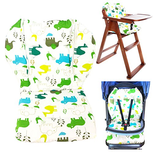 Twoworld Baby Stroller/Car/High Chair Seat Cushion Liner Mat Pad Cover Protector Breathable(Green) (Pad Booster Top Liner)