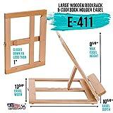 U.S. Art Supply Large Wooden Table Bookrack